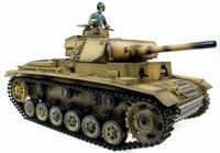 Taigen Handgeschilderde 1/16 Panzer RC tank met rook, geluid